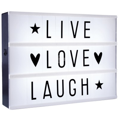 Lightbox - Anzeigetafel mit LED