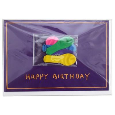 """Geschenkkarte """"Happy Birthday"""" mit kleinen Luftballons"""