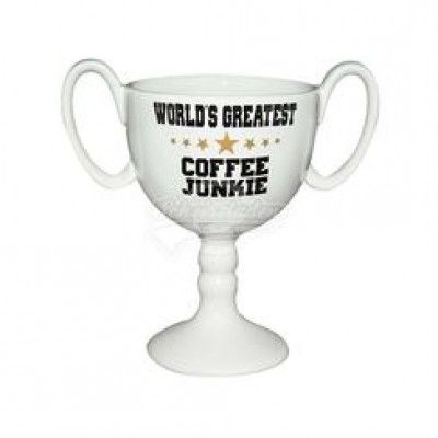 "Tasse ""World Greatest Coffee Junkie"" Pokaltasse"