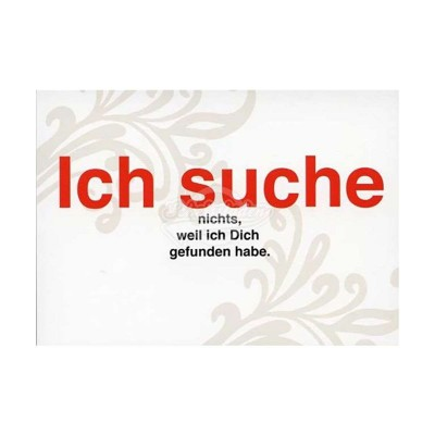 "Postkarte ""Ich Suche"""
