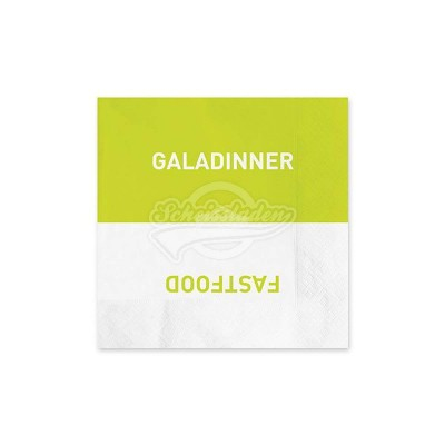 "Servietten ""Galadinner/Fastfood"""