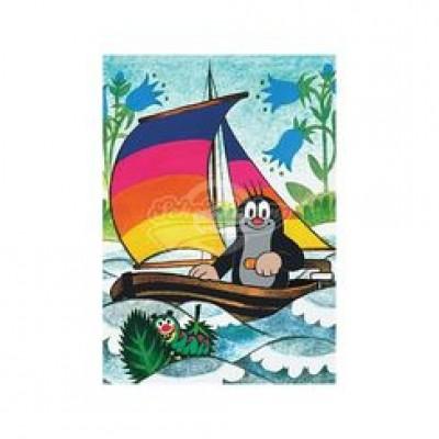 """Postkarte """"Maulwurf im Segelboot"""" - Der kleine Maulwurf"""