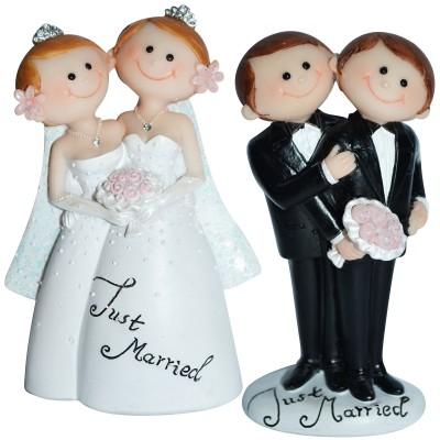 """Dekofigur - gleichgeschlechtliches Brautpaar """"Just Married Blumenstrauss"""""""