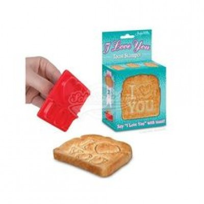 "Stempel für Toast Toaststempel ""I Love You"""