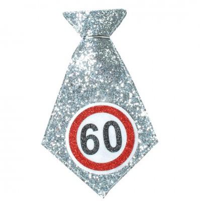 """Mini-Geburtstags-Krawatte """"60"""" mit Glitter"""