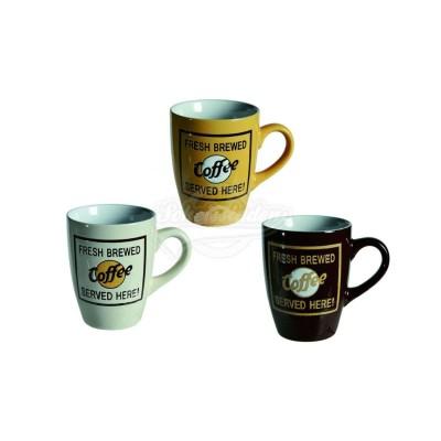 """Tasse im Retrochick """"Fresh Brewed Coffee"""" - versch. Farben"""