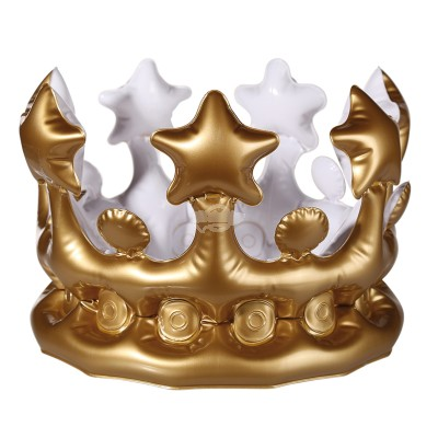 Aufblasbare-Krone - Inflatable Crown - Gold