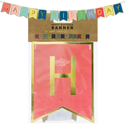 "Bannergirlande ""Happy Birthday"""