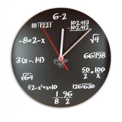 "Wanduhr Mathematik ""Pop Quiz"""