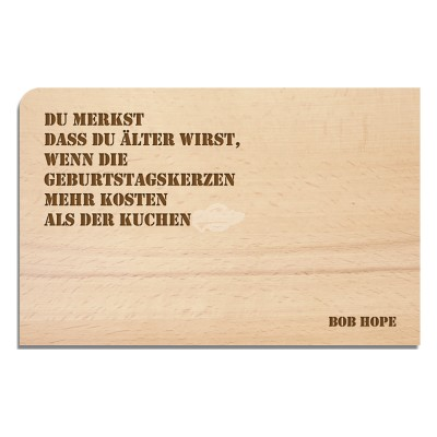 "Holzpostkarte ""Bob Hope - Happy Birthday"""