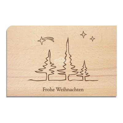 """Holzpostkarte """"Frohe Weihnachten"""" - von Holzpost - scheissladen.com"""