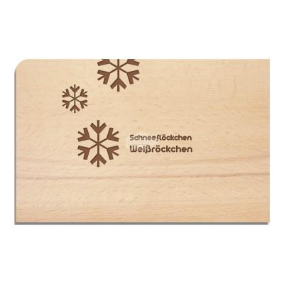 """Holzpostkarte """"Schneeflöckchen - Weihnachten"""" - von Holzpost - scheissladen.com"""
