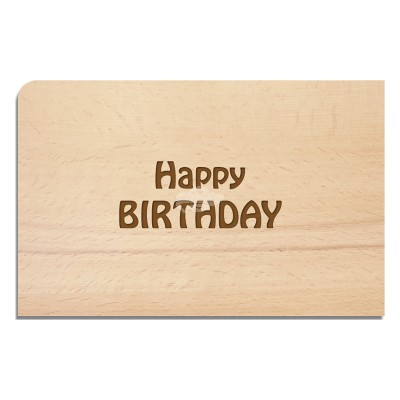 "Holzpostkarte ""Happy BIRTHDAY"""