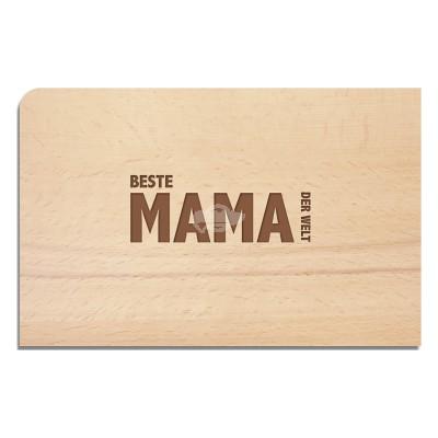 "Holzpostkarte ""MAMA"""