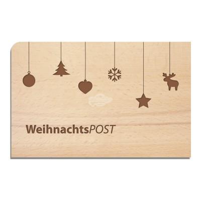 """Holzpostkarte """"WeihnachtsPOST"""""""