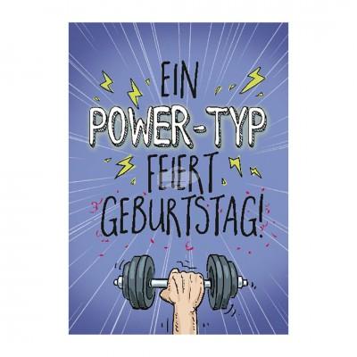 """Musikkarten mit Überraschung """"Ein Power-Typ feiert Geburtstag! """""""