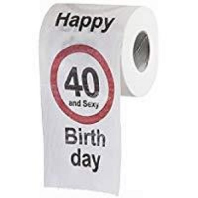 "Toilettenpapier ""Happy Birthday"" - 40"