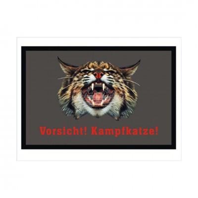 """Fußmatte """"Vorsicht Kampfkatze"""""""