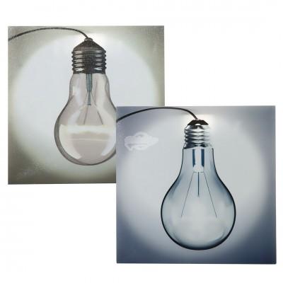 """LED Bild """"Glühbirne"""" - versch. Farben"""