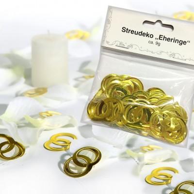 """Streudeko """"Eheringe"""" Heirat Hochzeit Tischdeko Konfetti Brautpaar"""