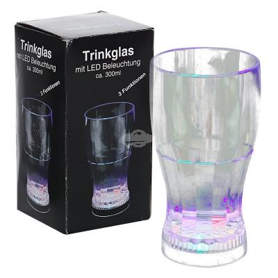 Trinkglas mit LED-Licht