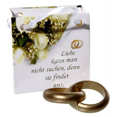 Hochzeits-Geschenktüte mit echten Ringen