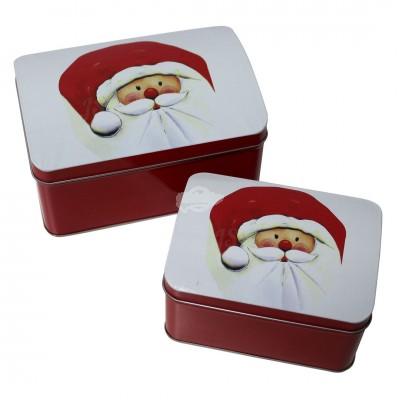 "2er Set Gabäckdose ''Santa'"""