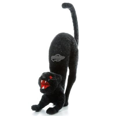"""Halloween """"schwarze Katze mit leuchtenden Augen"""", animiert"""
