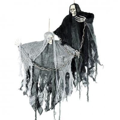 """Halloween """"Ketten Sensemann"""" 80cm versch. Farben wählbar"""