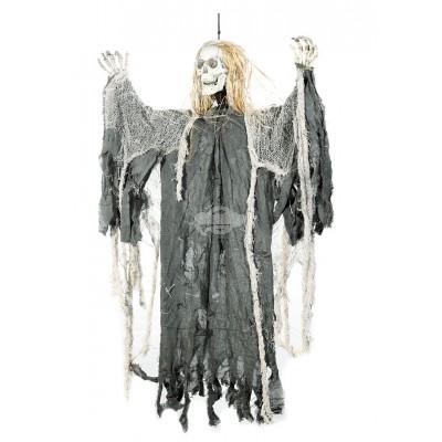 Halloween Sensemann mit Sound zum Hängen