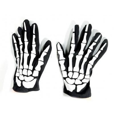 "Halloween Handschuhe ""Skelett"""