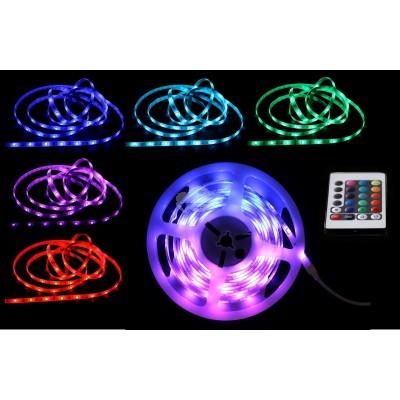 """LED Band """"Strip"""" 3 Meter - mit versch. Beleuchtungsprogrammen und Fernbedienung"""