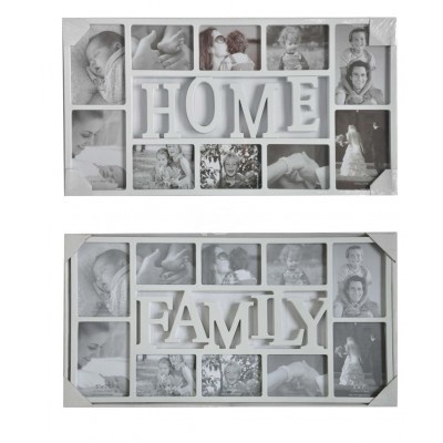 "Bilderrahmen ""Galerie"" Family Home Wohnaccessoires Deko Wand Collage"