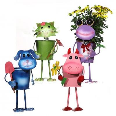 """Blumentopf """"lustige Tiere"""" - versch. Farben"""
