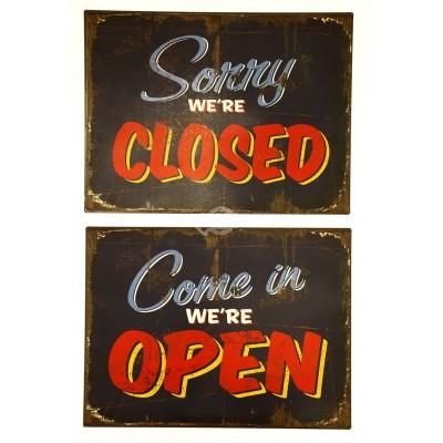 """Blechschild """"Open"""" oder """"Closed"""""""