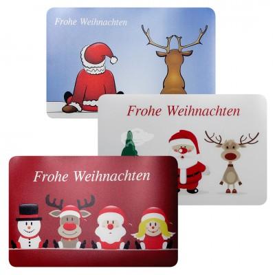 Platzmatte ''Frohe Weihnachten'' - versch. Farben