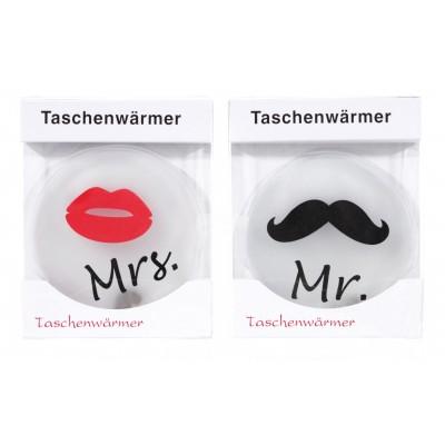 Taschenheizkissen ''Mr.'' oder ''Mrs.''
