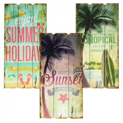Holzbild ''Hot Summer'' - versch. Designs