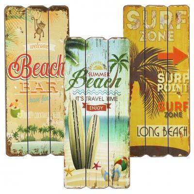Holzbild ''Beach'' - versch Designs