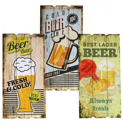 Holzbild ''Beer'' - versch. Designs