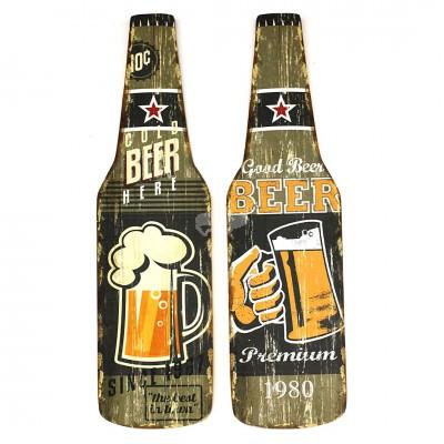 Holzbild ''Bierflasche'' - versch. Designs