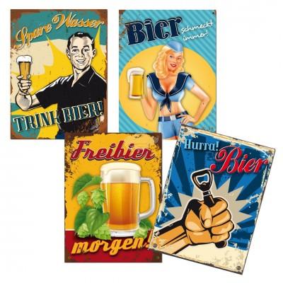 "Blechschild ""Bier"" verschiedene Varianten"
