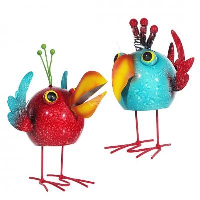 """Gartendekoration """"Swingender Vogel"""" - versch. Farben"""