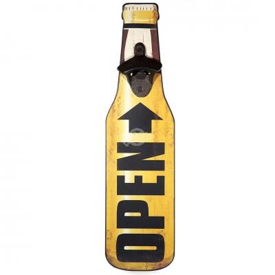 """Vintage Wandbild mit Flaschenöffner """"Open"""""""
