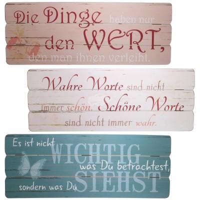Holzbild ''Philosophie'' - versch. Designs