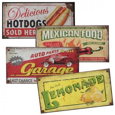 """Vintage """"Reklame Schild"""" - versch. Designs"""