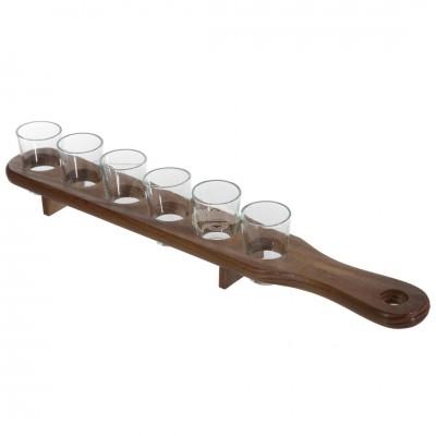 Schnapsbrett - mit 6 Gläser