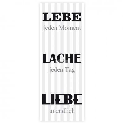 Holzbild ''Lebe, Lache, Liebe''
