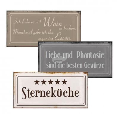 """Blechschild """"Küche"""" - versch. Design"""