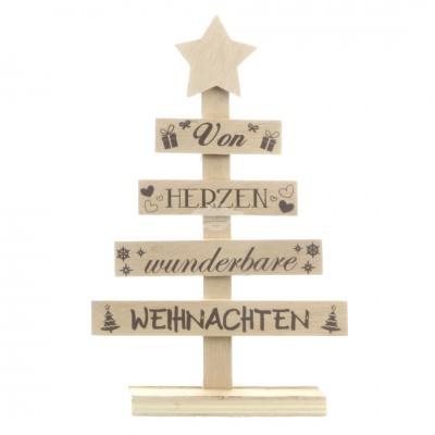 """Aufsteller """"Weihnachtsbaum"""" - natur"""